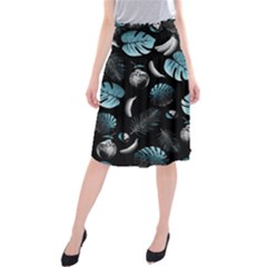 Tropical pattern Midi Beach Skirt by Valentinaart