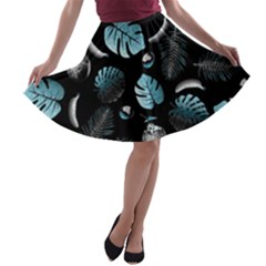 Tropical pattern A-line Skater Skirt by Valentinaart