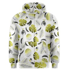 Tropical Pattern Men s Zipper Hoodie by Valentinaart