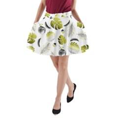 Tropical Pattern A Line Pocket Skirt by Valentinaart