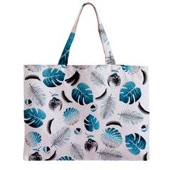 Tropical Pattern Medium Zipper Tote Bag by Valentinaart