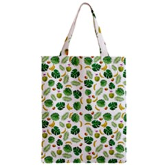 Tropical Pattern Zipper Classic Tote Bag by Valentinaart