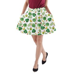 Tropical pattern A-Line Pocket Skirt by Valentinaart