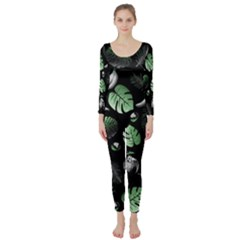 Tropical pattern Long Sleeve Catsuit by Valentinaart
