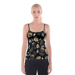Tropical Pattern Spaghetti Strap Top by Valentinaart