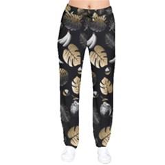 Tropical Pattern Drawstring Pants by Valentinaart