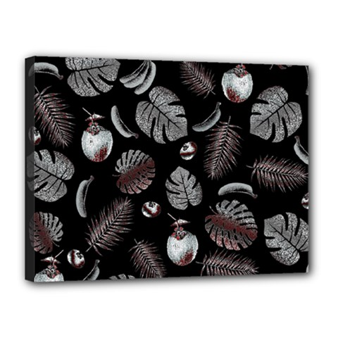 Tropical Pattern Canvas 16  X 12  by Valentinaart