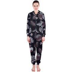 Tropical Pattern Hooded Jumpsuit (ladies)  by Valentinaart