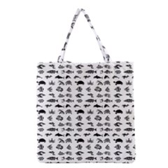 Fish Pattern Grocery Tote Bag by ValentinaDesign