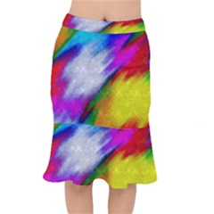 Rainbow Colors                  Short Mermaid Skirt