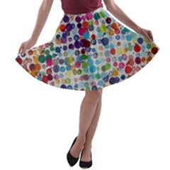Colorful Splatters               A Line Skirt