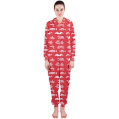 Fish pattern Hooded Jumpsuit (Ladies)