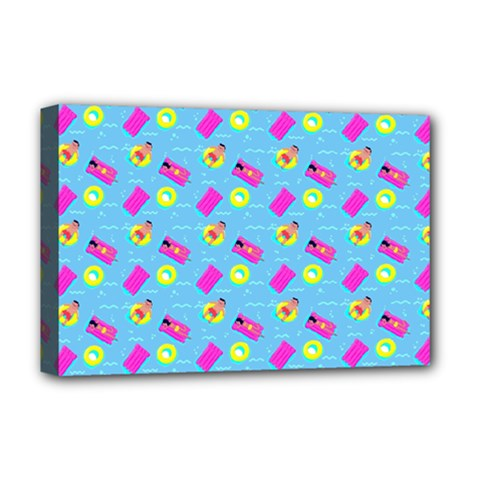 Summer Pattern Deluxe Canvas 18  X 12   by ValentinaDesign