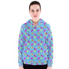 Summer Pattern Women s Zipper Hoodie