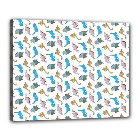 Dinosaurs Pattern Canvas 20  X 16  by ValentinaDesign