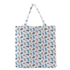 Dinosaurs Pattern Grocery Tote Bag by ValentinaDesign