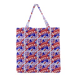 Happy 4th Of July Theme Pattern Grocery Tote Bag by dflcprints