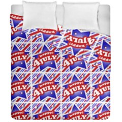 Happy 4th Of July Theme Pattern Duvet Cover Double Side (california King Size) by dflcprints