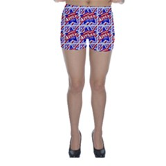 Happy 4th Of July Theme Pattern Skinny Shorts by dflcprintsclothing