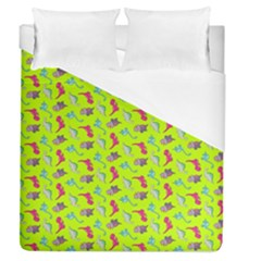 Dinosaurs Pattern Duvet Cover (queen Size) by ValentinaDesign