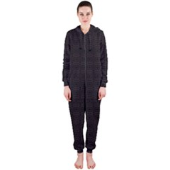 Pattern Hooded Jumpsuit (Ladies)