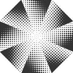 Comic Dots Polka Black White Golf Umbrellas by Mariart