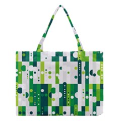 Generative Art Experiment Rectangular Circular Shapes Polka Green Vertical Medium Tote Bag by Mariart