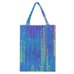 Vertical Behance Line Polka Dot Blue Green Purple Classic Tote Bag by Mariart