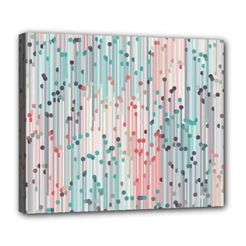 Vertical Behance Line Polka Dot Grey Pink Deluxe Canvas 24  X 20   by Mariart