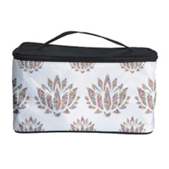 Dot Lotus Flower Flower Floral Cosmetic Storage Case by Mariart
