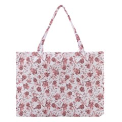 Floral Pattern Medium Tote Bag by ValentinaDesign