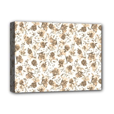 Floral Pattern Deluxe Canvas 16  X 12   by ValentinaDesign