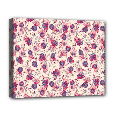 Floral Pattern Deluxe Canvas 20  X 16   by ValentinaDesign