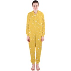 Dots pattern Hooded Jumpsuit (Ladies)