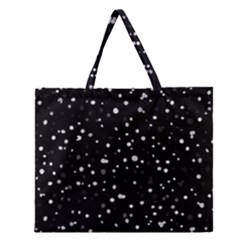 Dots Pattern Zipper Large Tote Bag by ValentinaDesign