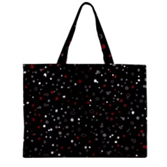 Dots Pattern Zipper Mini Tote Bag by ValentinaDesign