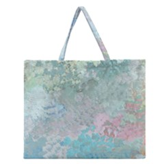 Pastel Garden Zipper Large Tote Bag by theunrulyartist