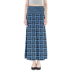 Woven1 Black Marble & Blue Colored Pencil (r) Full Length Maxi Skirt by trendistuff