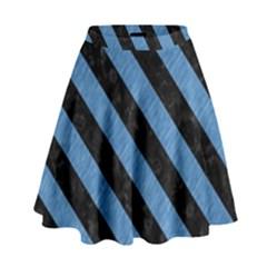 STR3 BK-MRBL BL-PNCL (R) High Waist Skirt by trendistuff