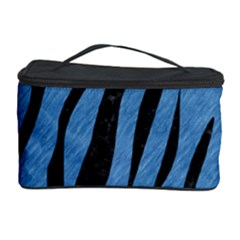 Skin3 Black Marble & Blue Colored Pencil (r) Cosmetic Storage Case by trendistuff