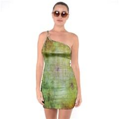 Grunge Texture       One Shoulder Ring Trim Bodycon Dress by LalyLauraFLM