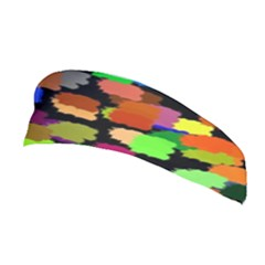 Colorful Paint On A Black Background                 Stretchable Headband