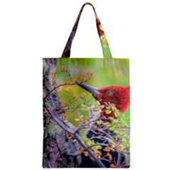 Woodpecker At Forest Pecking Tree, Patagonia, Argentina Classic Tote Bag by dflcprints