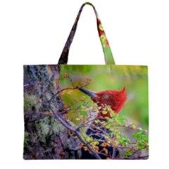 Woodpecker At Forest Pecking Tree, Patagonia, Argentina Zipper Mini Tote Bag by dflcprints
