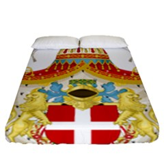 Coat Of Arms Of The Kingdom Of Italy Fitted Sheet (queen Size) by abbeyz71