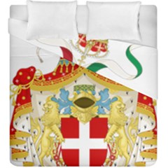 Coat Of Arms Of The Kingdom Of Italy Duvet Cover Double Side (king Size) by abbeyz71