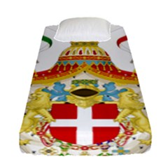 Coat Of Arms Of The Kingdom Of Italy Fitted Sheet (single Size) by abbeyz71