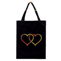Heart Gold Black Background Love Classic Tote Bag
