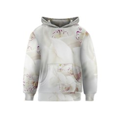 Orchids Flowers White Background Kids  Pullover Hoodie