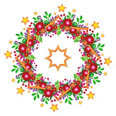 Heart Flowers Sign Golf Umbrellas by Nexatart